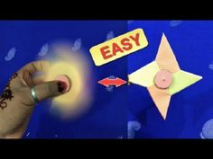 Origami Fidget Spinner   How To Make A Paper Fidget Spinner WITHOUT BEAR...
