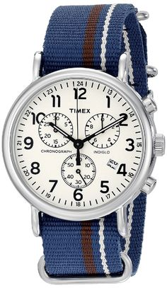 Timex Weekender Chronograph Watch >>> Check this awesome watch by going to the link at the image.