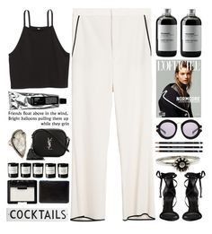 """""""Cocktails"""" by doga1 ❤ liked on Polyvore featuring Zara, Schutz, Sort of Coal, Yves Saint Laurent, Pamela Love, Karen Walker, Metal Couture, Byredo, Rosanna and NARS Cosmetics"""