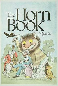 Author: Sendak, Maurice Imprint: Boston: Horn Book magazine, 1985. Date: 1985 Price: $450.00  Poster for this children's book review journal based upon a new cover design by Sendak showing a Randolph Caldecott caricature with the artist portrayed as a Wild Thing learning to draw by studying Caldecott's famous fine lines.  It is reproduced in Mr Sendak's 1986 collection of POSTERS (page 37).  Measures 24-1/4 x 16-3/8 inches, and SIGNED by the artist.