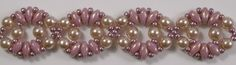 Deborah Robert's Circe Bracelet pattern using Czech 4mm Glass Pearls