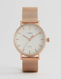 Timex Fairfield 37mm Mesh Watch In Rose Gold 925508176ff