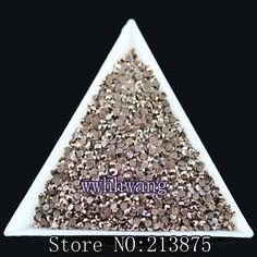 "DIY,1000pcs/bag,SS6,2mm,3D Nail Art Tips,Bronze color jelly ab resin flat back crystal rhinestone ""not hotfix"" nails use glue"