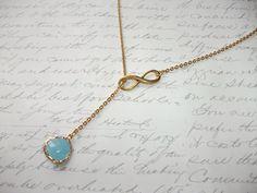 Turquoise drop gold lariat necklace with infinity symbol de la boutique BijouxdeBrigitte sur Etsy Lariat Necklace, Pendant Necklace, Infinity Symbol, Turquoise, Beaded Necklaces, Plaque, Or, Symbols, Jewels