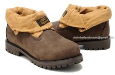 Timberland Men's Roll-Top Classic Plaid Boots Khaki Brown $80.00