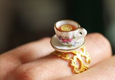 Cute new teacup ring coming soon to Ruby Robin Boutique! #handmade