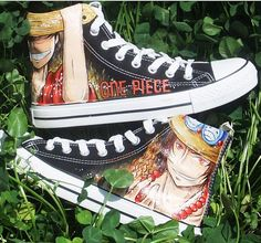 Canvas Sneakers One Piece hand painted shoes Anime Shoes