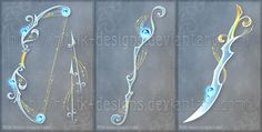 The Heaven's Harp set (OPEN) Offer to adopt! by Rittik-Designs