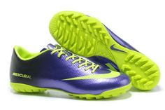 Nike Mercurial Vapor IX TF Cleats - Navy Purple Fluorescent Green New Soccer Shoes 2013 turf cleats