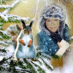 lissy-Squirrel Winter
