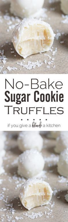 These no-bake sugar cookie truffles are little balls of cookie goodness dipped in white chocolate and sprinkled like snowballs! Great for Christmas.   www.ifyougiveablondeakitchen.com