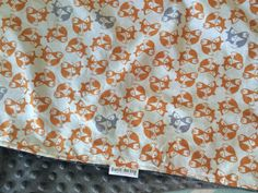 Fox Baby Blanket Blanket Woodland Blanket Woodland by DwellDarling, $34.00