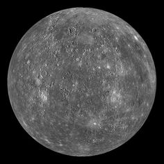 Mercury planet  #Mercury is the planet closest to the Sun, but not the hottest. Find out which planet is: http://astronomyisawesome.com/solar-systems/cool-facts-about-mercury/ #astronomy