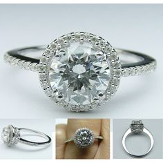 Halo Engagement Ring Filigree Gallery