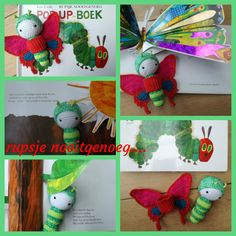 Ulysses butterfly modified to 'the very hungry caterpillar' / crochet pattern by lalylala