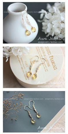 繁星:天然黄水晶925纯银镀金镶锆石耳环16d59-淘宝网全球站