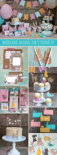 DIY Woodland Party from MichaelsMakers Lia Griffith Forest Party, Woodland Party, 2nd Birthday Parties, Birthday Party Decorations, Birthday Ideas, Animal Birthday, Animal Party, Party Ideas, Diy Party