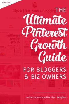 The ultimate in Pinterest tips! How to get followers on Pinterest (and drive traffic back to your website) if you are a blogger, business owner, or entrepreneur. Learn how to get more re-pins, what makes people follow you, and get 15+ real-life examples. Read + bookmark it at olyvia.co/.... This is like an e-course on growing your Pinterest account, but totally free!