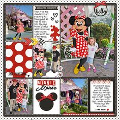 Meeting Minnie Sahlin Studio Project Mouse pocket scrapbook page