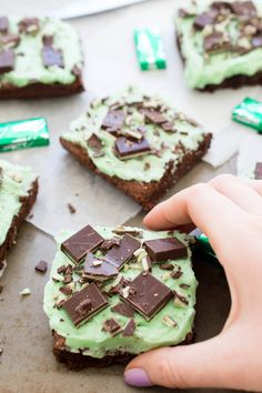 Chocolate Mint Andes Brownies