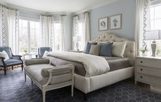Blue bedroom paint color and decor. Blue bedroom paint color and decor. Blue bedroom ideas Heather Scott Home & Design Blue Bedroom Paint, Blue Master Bedroom, Blue Bedroom Decor, Master Bedroom Interior, Decoration Bedroom, Home Interior, Master Bedrrom, Blue Bedrooms, Teen Bedroom
