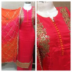 Checkout on Roposo.com - Silk Gotta Patti Designer Suit Product code - FCDM158Available with us www.fashionclozet.com Watsapp -  91 9930777376Email -  info@fashionclozet.comOr DM for enquiries.