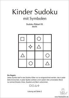 Kinder Sudoku leicht mit Symbolen