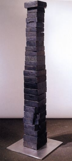 Louise Bourgeois, Memling Dawn (1950) – a stack of brick-sized chunks of bronze…