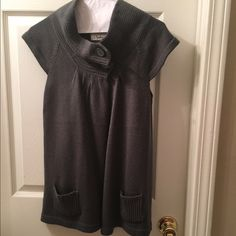 Smoked grey sweater vest Cute smoked grey sweater vest, worn a few times, but still in great condition. Sweaters