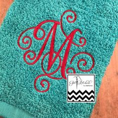 Personalized hand and bath towels. Towel Sizes Available: Washcloth $7.50 Hand Towel $10.00 Bath Towel $15.00  Please put in note section
