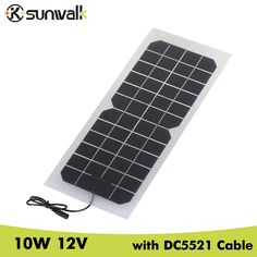 >> Click to Buy << SUNWALK Monocrystalline silicon 10W 12V Solar Panel with DC 5521 Cable Semi-flexible Transparent 12V Solar Panel Charger #Affiliate