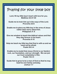 Praying for your little boy Printable October 2, 2013 By Stephanie 11 Comments