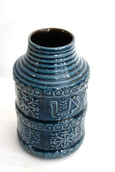 Bay West Germany Pottery | West German BAY Keramik Vase by CampHobachee on Etsy