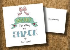 Shackin' Up Mother's Day Card (1) - $4.50
