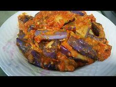 SAMBAL BALADO TERONG (EGGPLANT SAMBAL) - YouTube Brinjal Recipes Indian, Veggie Recipes, Asian Recipes, Eggplant Recipes, Chicken Wraps, Indonesian Food, Chutney, Food To Make, Pork
