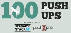 Interactive Infograph: 100 Push-Up Variations brought to you by Strength Stack 52, bodyweight fitness gaming cards. The Game of FIT!