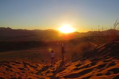 Sunsets in the deserts of Namibia