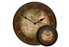 Century World Map Clock mix Nautical Clocks, Nautical Gifts, Celtic Words, Antique Wall Clocks, World Clock, Clocks For Sale, Old World Maps, Beach House Decor, Cartography