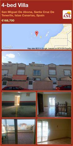4-bed Villa in San Miguel De Abona, Santa Cruz De Tenerife, Islas Canarias, Spain ►€168,700 #PropertyForSaleInSpain