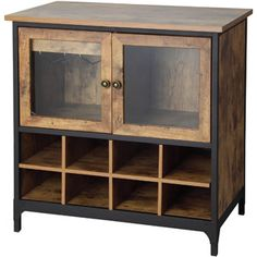 "Better Homes and Gardens Rustic Country Wine Cabinet, Pine $119 Dimensions: 31.5""L x 17.99""W x 32.01""H"