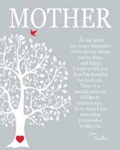 Tree with Heart - Mother's Day Gift Personalized Gift for Mom by KreationsbyMarilyn