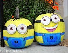 Calabazas pintadas para decorar en Halloween Pinterest