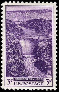 US Stamps - Boulder Dam 1935 3-cent postage stamp