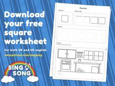 Downloadable square worksheet.