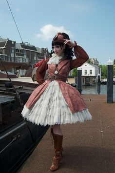 serious petticoats on a pirate lolita coord