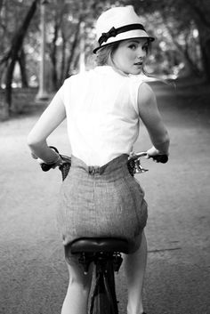 I wouldn't ride a bike in it but i would love a high waisted skirt with a fedora : )