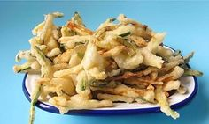 Deep-fried delight … Felicity Cloake's perfect courgette chips. Photograph: Felicity Cloake for the