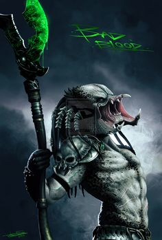 Bad Blood Predator by JFoliveras on deviantART Predator Movie, Alien Vs Predator, Predator Figure, Wolf Predator, Arte Alien, Alien Art, Predator Cosplay, Giger Alien, Science Fiction Art