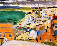Vue sur la baie de Tanger - View of the bay of Tangier 1912 ( Morocco - Moroccan ) by Henri Matisse France French Henri Matisse, Matisse Art, Matisse Paintings, Picasso Paintings, Matisse Pinturas, Paul Gauguin, Kandinsky, French Artists, Great Artists