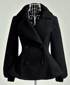 Ladylike   Long Sleeve   Overcoat Overcoats from fashionmia.com